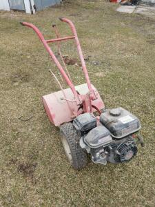 Troy-Bilt horse model rear tine tiller with approximately 5 year old gas engine on it predator engines 212cc