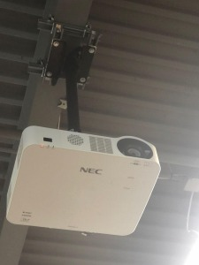 NEC NP-L102W 3D Ready DLP laser Projector with screen