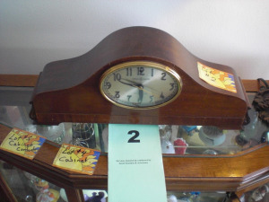 GENERAL ELETRIC MANTLE CLOCK W/ WESTMISTER CHIME, ELECTRIC