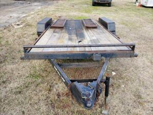 MASTER TOW Equipment Trailer - 16 ft. x 81 in. Wide - 7000 LB Capacity, Dove Tail w/ Loading Ramps, Good Condition, with TITLEVIN: 4DFCC1629DN108606