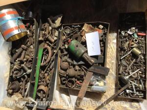 4 Trays bolts and miscellaneous