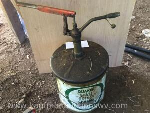 Quaker State oil container and Pump