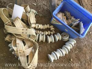 Selection of insulators, harness belts and more