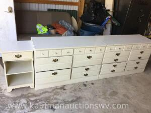 2 Ethan Allen dressers and night stand