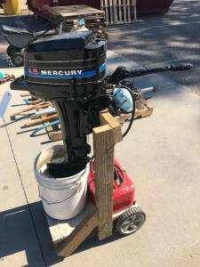 4.5HP Mercury Outboard Motor with Fuel Tank and Stand
