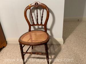 Antique Rattan bottom chair