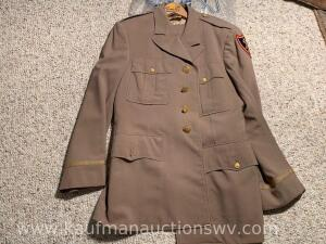 Army officers uniform and trousers