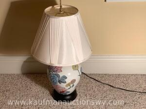 Painted electric table lamp