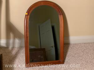 "19"" x 31"" wood framed wall mirror"