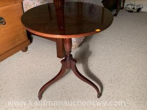Three footed side table/lamp stand