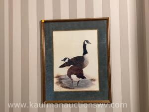 "21"" x 26"" Tina white 1990 Canadian goose picture 23/30"