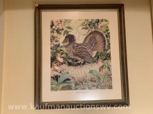"24"" x 28"" Sally Middleton Appalachian ruffed grouse print"