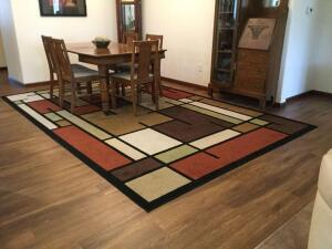 Set of 3 rugs Orian Rug Company-one area rug and 2 runners Area rug measures 94 x 144 and runners measure 24 x 72
