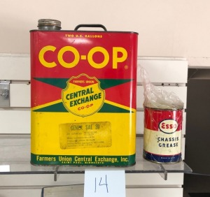 Co-Op Oil Can & Esso Grease Can