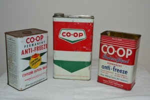 Assorted Anti-Freeze Cans