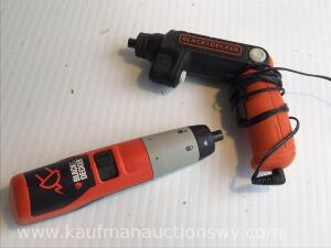 Black and decker cordless screwdrivers