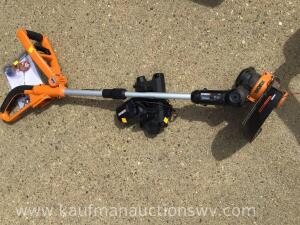 Worx Battery weedeater with battery and charger