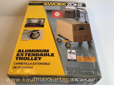 Work zone aluminum extendable trolley