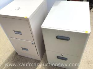 Two 2 drawer file cabinets