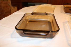 Pyrex baking dishes, Anchor, Pyrex dishes