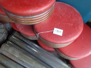 (14) Red Barstools