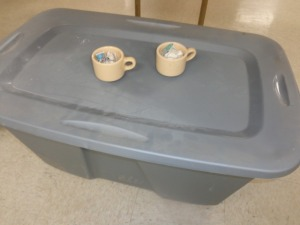 Approximately (75) Coffee Cups and Tub