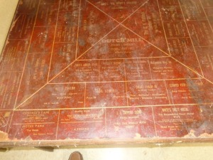 Antique Card Table w/Old Pana Advertising
