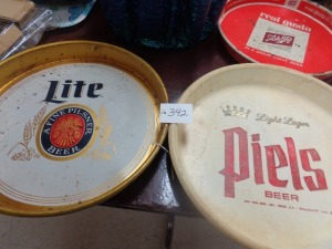 (3) Old Beer Trays and Misc.