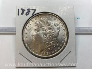 1887 uncirculated Morgan