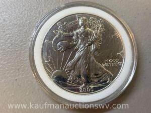 2000 1ounce proof uncirculated silver eagle