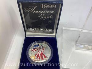 1999 painted uncirculated American Silver eagle