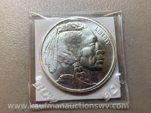 Indian head buffalo 1 ounce silver