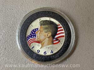 1964 painted Kennedy half
