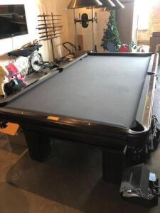 9' Olhausen pool table -Good Condition-Black felt- comes with pool balls