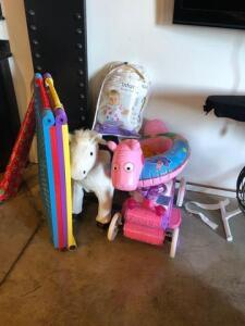 Rocking horse -baby gate-princess toy-raft