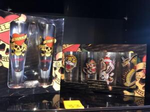 Two sets of Authentic Ed Hardy bar aware