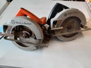 A Set Of 2 Black & Decker CIRCULAR Saws