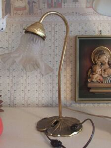 Gold deck lamp