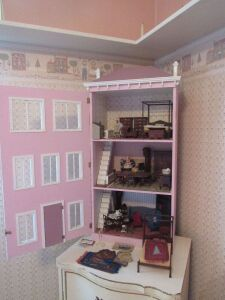 Hand Made doll house painted