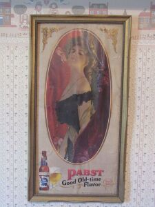 Pabst beer sign framed
