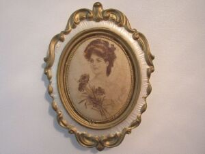 Vintage portrait framed