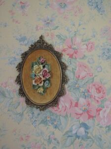 Floral carved china picture