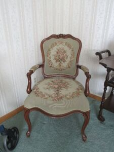 Victorian needle point arm chair