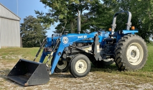 1998 Ford New Holland 4630 Turbo Tractor with Bush Hog 2427 QT Loader