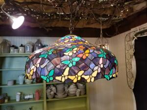 Hanging Colored Plastic Glass Chandelier