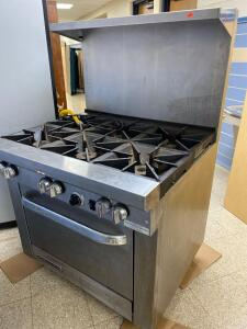 Southbend 6 top stainless gas range, works, lightly used