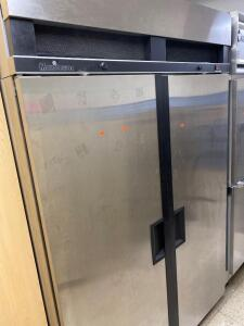 Manitowoc stainless steel freezer, runs but does not cool