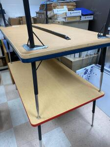 "3 classroom tables 36"" x 60"" with adjustable legs"