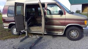 Econoline Ford Van with wheelchair lift