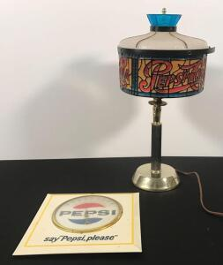 Pepsi Thermometer and Lamp